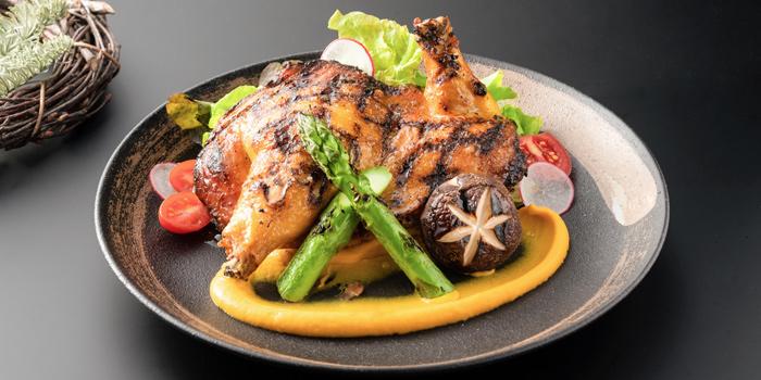 Slow Roasted Spring Chicken, CÉ LA VI Restaurant Hong Kong, Lan Kwai Fong, Hong Kong