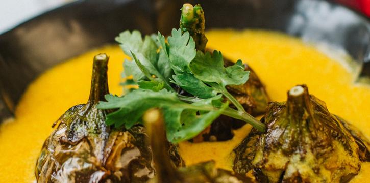 Khatte Baingan from Indus Contemporary Indian Dining in Upper Sukhumvit, Bangkok
