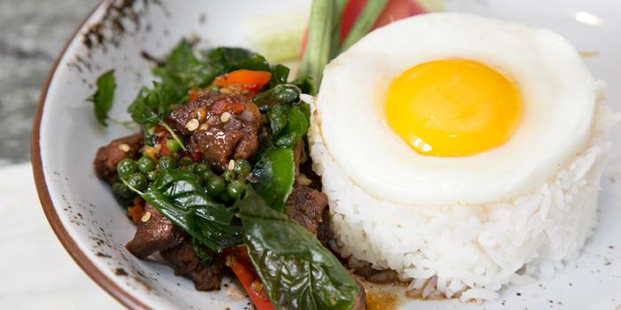 Pad Krapao Braised Beef from Mondo at Hilton Hotel Sukhumvit Bangkok 11 Sukhumvit Soi 24 Bangkok