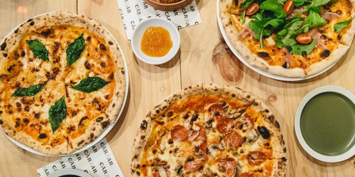 Pizza Selection from CarBar at 72 Courtyard, Sukhumvit 55 Thonglor, Bangkok