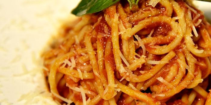 Spaghetti Tomato Sauce, The Italian Club Wine Bar, Steak House & Pizza Gourmet, SOHO, Hong Kong