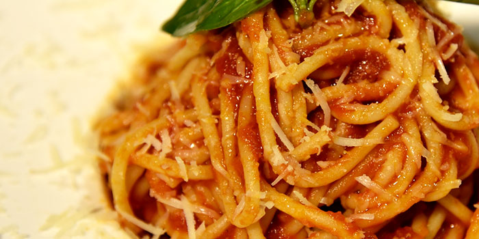 Spaghetti Tomato Sauce, The Italian Club Wine Bar, Steak House & Pizza Gourmet, SOHO, Hong Kong