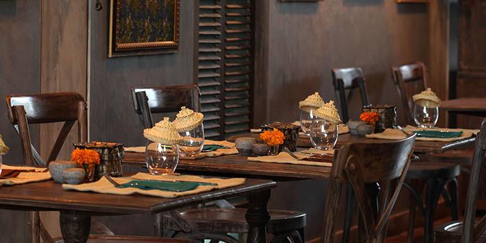 Interior from Petani Restaurant, Ubud, Bali