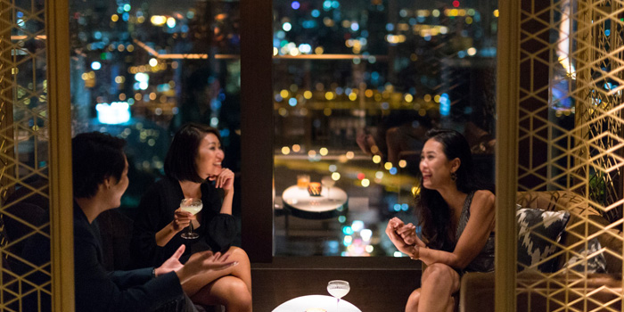 Private Corner from Penthouse Bar + Grill at Park Hyatt Bangkok, Bangkok