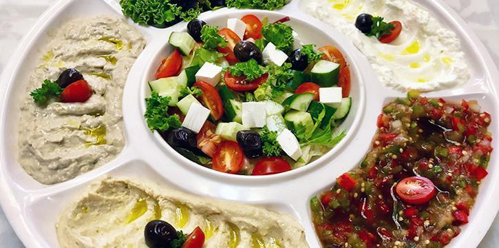 Mezza Platter from Lubnan Authentic Lebanese Cuisine in Bugis, Singapore