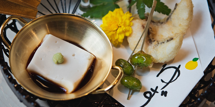 Appetizer from Yuzu Omakase at 258/9-10 Siam Square Soi 3, 2F Pathumwan Bangkok