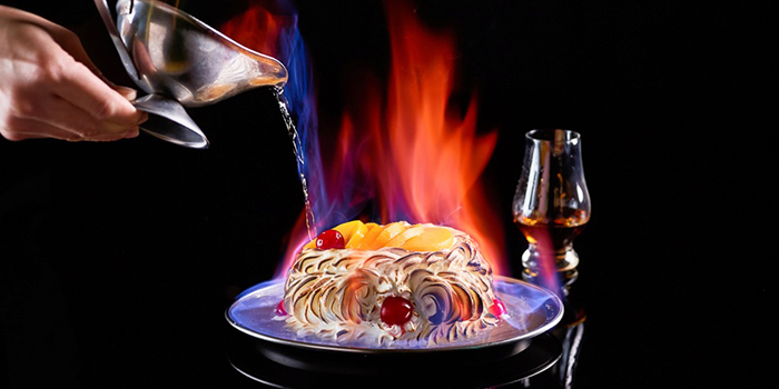 Baked Alaska from Shashlik Restaurant at Far East Shopping Centre in Orchard, Singapore