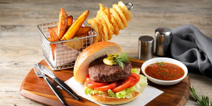 Beef Burger from CITI Bistro at Pathumwan Princess Hotel G floor, 444 MBK Center Phayathai Road Wangmai, Pathumwan Bangkok