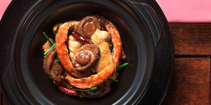 Braised Chicken Casserole Sundried Shrimp Chilli, Man Wah, Central, Hong Kong