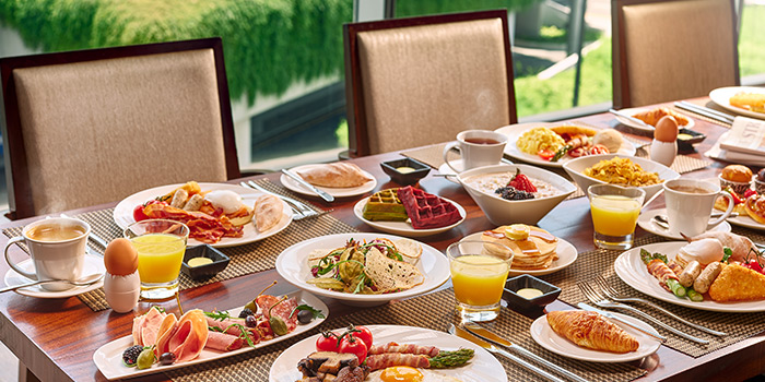 Breakfast Spread from Edge at Pan Pacific Singapore in Promenade, Singapore
