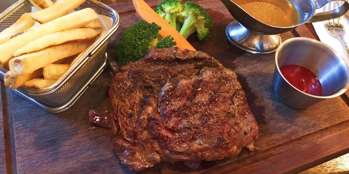 Char Grilled NZ Rib Eye Steak, The Trafalgar Brewing Company (Mong Kok), Mong Kok, Hong Kong
