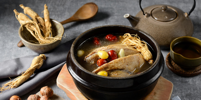 Chicken Soup from Kongju Korean Restaurant Pathumwan Princess Hotel 444 MBK Center Phayathai Road Wangmai, Pathumwan Bangkok