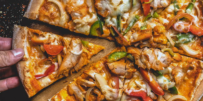 Chicken Tikka Pizza from Cali, Park Avenue Rochester Hotel at Park Avenue Hotel in Rochester, Singapore
