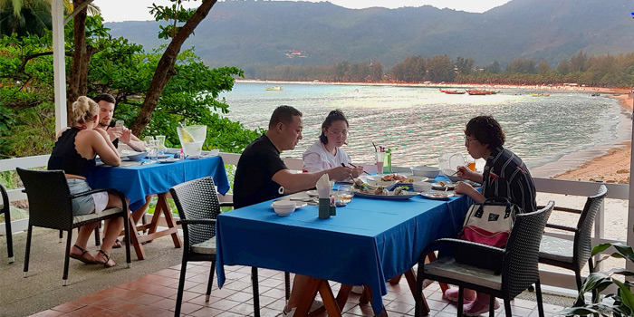 Chill Dining from The Deck Restaurant Kamala in Kamala, Phuket, Thailand.