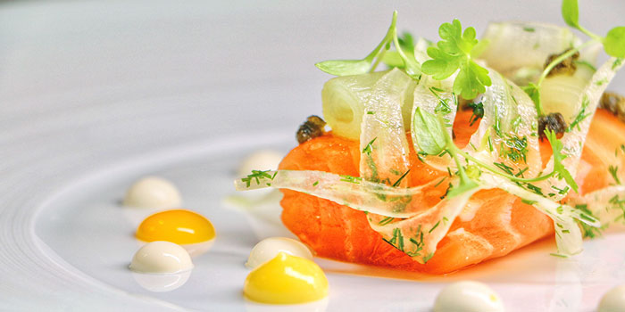 Confit and Smoked Salmon, Mandarin Grill + Bar, Central, Hong Kong