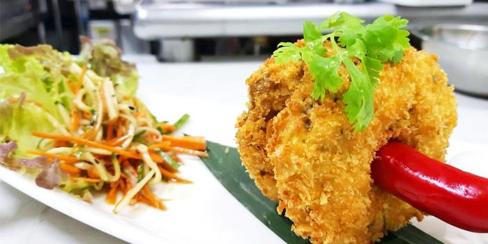 CrabCake from The Deck Restaurant Kamala in Kamala, Phuket, Thailand.