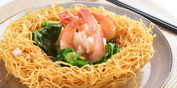 Crispy Noodles with Seafood in Egg Gravy from A*MUSE Social Gathering in Outram, Singapore