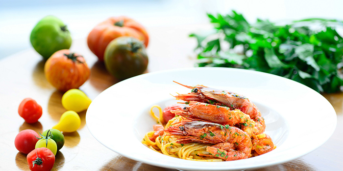 Linguine with Red Prawn and Fresh Cherry Tomatoes, Cucina, Tsim Sha Tsui, Hong Kong