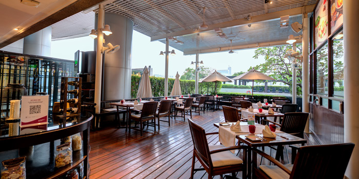 Dining Area of Terrazza Italian Restaurant at Pathumwan Princess Hotel G floor, 444 MBK Center Phayathai Road Wangmai, Pathumwan Bangkok