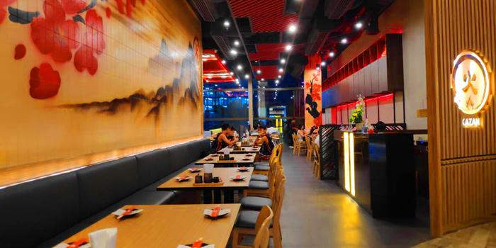 Dining Area of Kazan by sushi yama at Singha complex tower 1788 Fl.1 unit102 Petchburi Road Bangkapi, Huai Khwang Bangkok