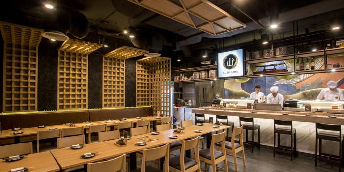 Dining Area of Sushi Yama at CP Tower1 (Silom) 313 Silom 2/1 Silom, Bang Rak Bangkok