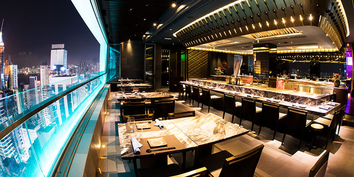 Dining Area, Kamon Teppanyaki, Causeway Bay, Hong Kong