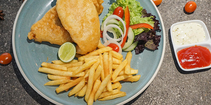 Fish and Chips from The Barrel, Legian, Bali