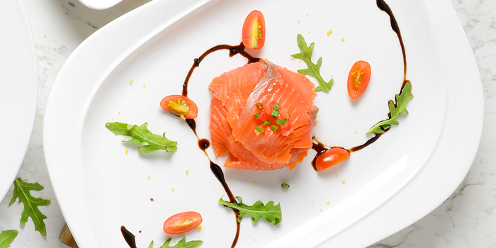 Fantasy Salmon from Terrazza Italian Restaurant at Pathumwan Princess Hotel G floor, 444 MBK Center Phayathai Road Wangmai, Pathumwan Bangkok