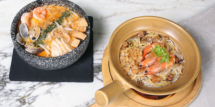 Laksa and Hokkien Mee at M Social Singapore in Robertson Quay, Singapore