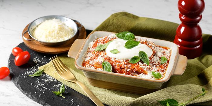 Lasagna Bolognese from Terrazza Italian Restaurant at Pathumwan Princess Hotel G floor, 444 MBK Center Phayathai Road Wangmai, Pathumwan Bangkok