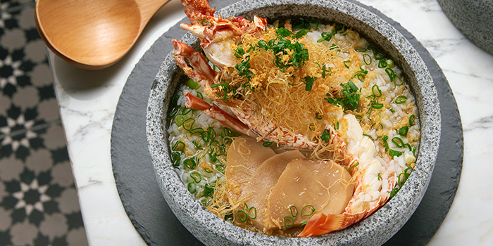 Lobster Porridge from Beast & Butterflies at M Social Singapore in Robertson Quay, Singapore