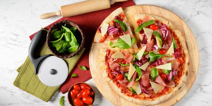 Parma Pizza from Terrazza Italian Restaurant at Pathumwan Princess Hotel G floor, 444 MBK Center Phayathai Road Wangmai, Pathumwan Bangkok