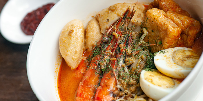 Prawn Laksa at Greenhouse Cafe in Design Hub at Tuas, Singapore