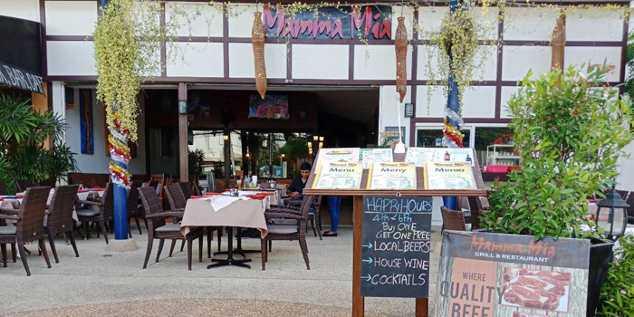 Restaurant-Surrounding of Mamma Mia in Bangtao, Phuket, Thailand.