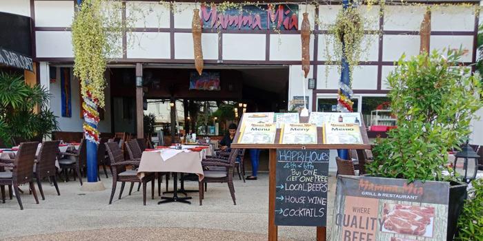 Restaurant-Surrounding of Mamma Mia in Bangtao, Phuket, Thailand.