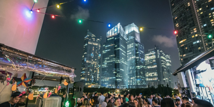 Rooftop from Kinki Restaurant + Bar in Collyer Quay, Singapore