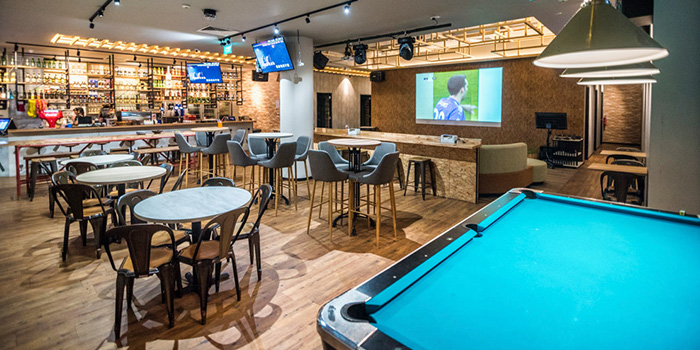 Interior of 7th Heaven KTV & Cafe at SAFRA Tampines in Tampines, Singapore