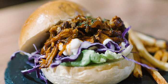 Pulled Pork Burger from 7th Heaven KTV & Cafe at SAFRA Tampines in Tampines, Singapore