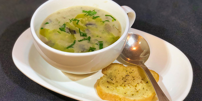 Creamy Chicken and Mushroom Soup from Alvin's in Bukit Timah, Singapore