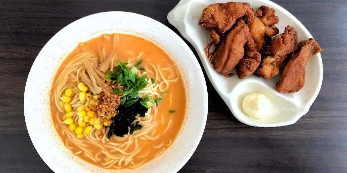 Fried Chicken Ramen from Beppu Menkan Restaurant at China Square Central in Chinatown, Singapore