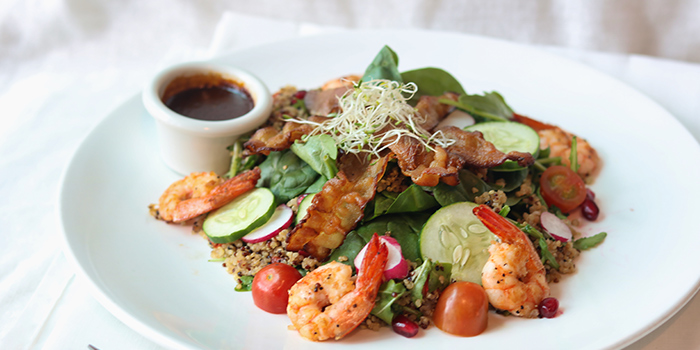 Prawn & Bacon Spinach Salad from Cedele All-Day Dining (Great World City) in River Valley, Singapore
