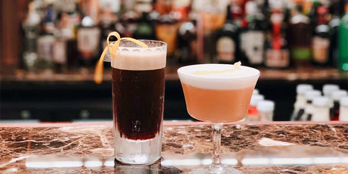 Drinks from Cook and Tras Social Library in Tanjong Pagar, Singapore