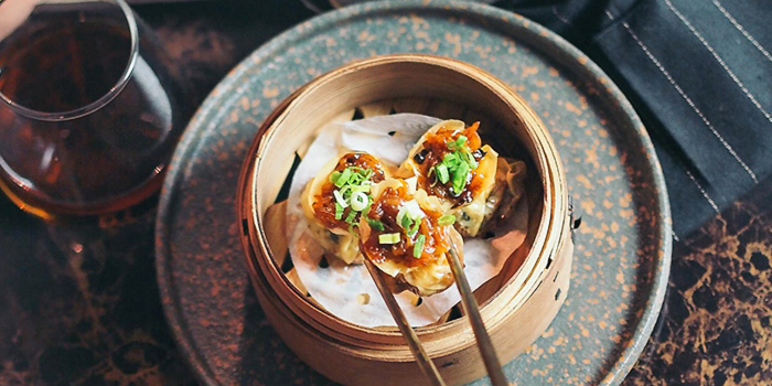 Wanton Skin Wraps Glutinous Rice with Foie Gras from Eliza in Telor Ayer, Singapore