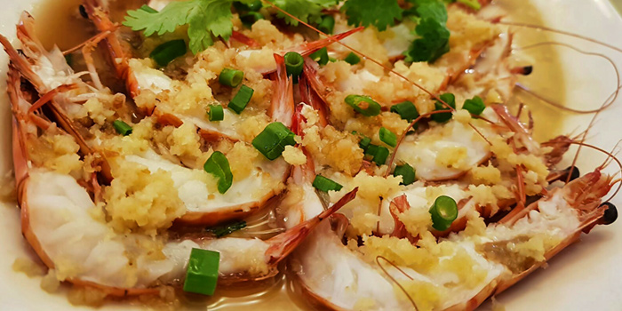 Steamed Prawn with Garlic from Goldenbeach Seafood Paradise at SpringVale in East Coast, Singapore