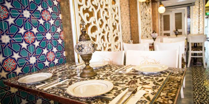 Interior of Lubnan Authentic Lebanese Cuisine in Bugis, Singapore