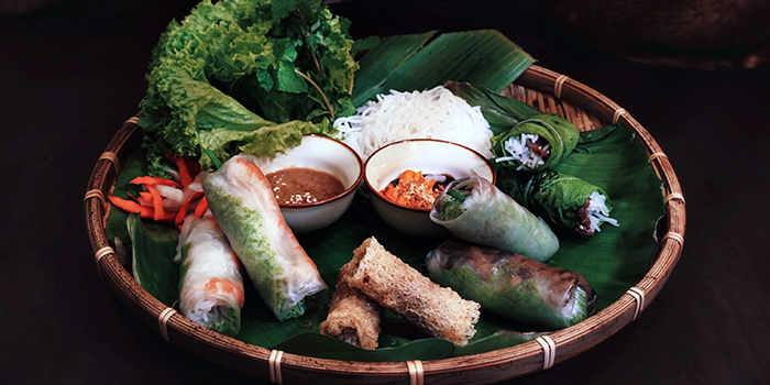 Spring Rolls Platter from Paper Rice Vietnamese Kitchen in Changi, Singapore