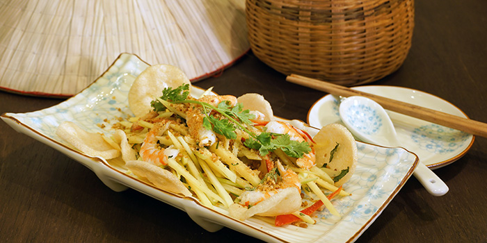 Green Papaya Salad with Prawns from Paper Rice Vietnamese Kitchen in Changi, Singapore