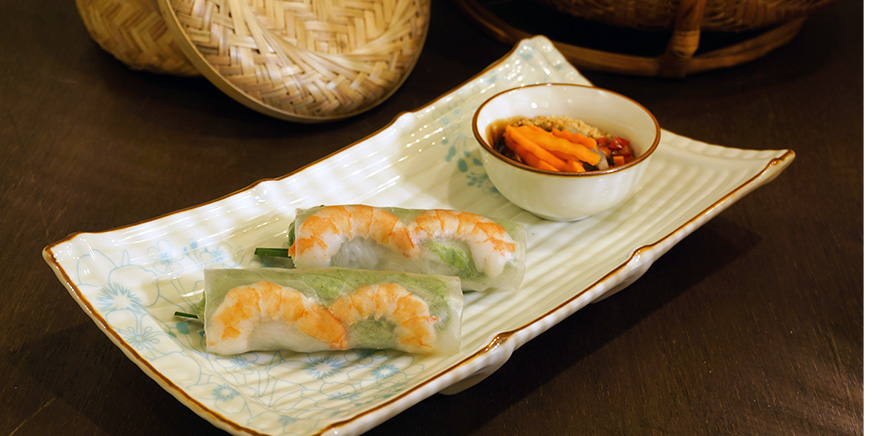 Fresh Spring Rolls with Prawns from Paper Rice Vietnamese Kitchen in Changi, Singapore