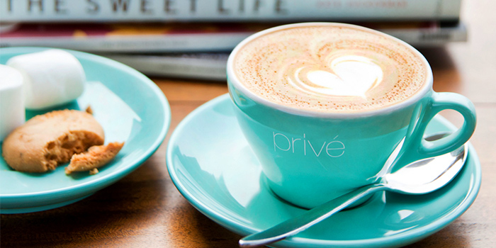 Coffee from Privé Paragon in Orchard, Singapore