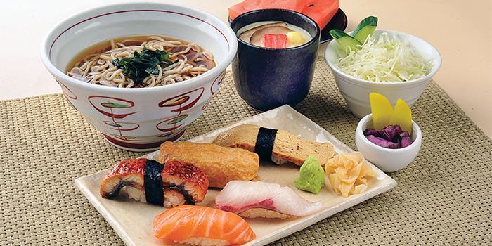 Sushi & Soba Set A from Shimbashi Soba at Paragon in Orchard, Singapore